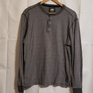 Men's Roots gray henley top